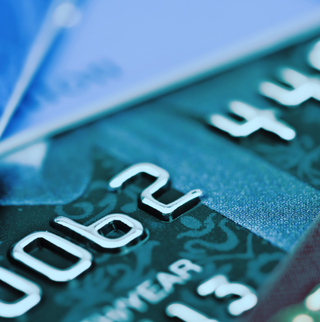 credit card zoomed in
