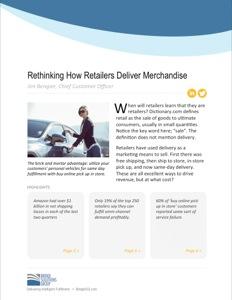 Rethinking how retails deliver merchandise