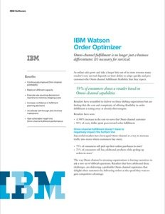 IBM Watson Order Optimizer