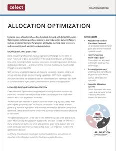 Celect Allocation Optimization